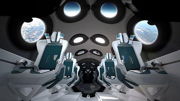 Το εσωτερικό του αεροδιαστημοπλοίου SpaceShipTwo της Virgin Galactic