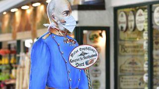 """""""Maskierter"""" Kaiser Franz Joseph in St. Wolfgang"""