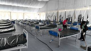 Kenya turns a stadium in a makeshift hospital