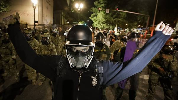 Protesters said they were skeptical the federal officers would leave Portland.