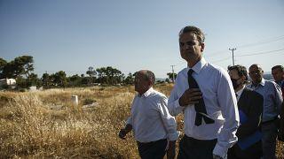 Επίσκεψη Μητσοτάκη στο Μάτι - Δωρεά 11 εκατομμυρίων ευρώ από την Κυπριακή Δημοκρατία