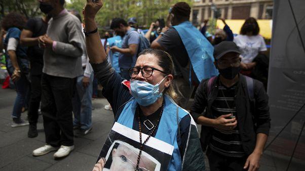 Manifestante contra el aborto en Ciudad de México