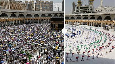 Hajj in Mecca in 2019 and 2020