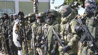 Построение в воинской части в Марьиной Горке во время визита президента Александра Лукашенко