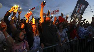 Предвыборный митинг в Минске в поддержку Светланы Тихановской стал самым многочисленным за последнее время