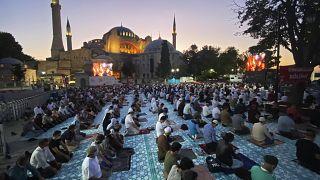 Προσευχή μετά από 86 χρόνια στην Αγία Σοφία για το μπαϊράμι