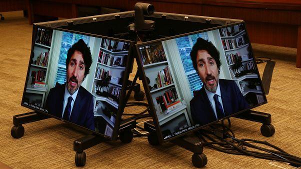حضور مجازی جاستین ترودو در پارلمان کانادا