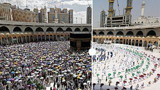El hach en La Meca en 2019 y 2020.
