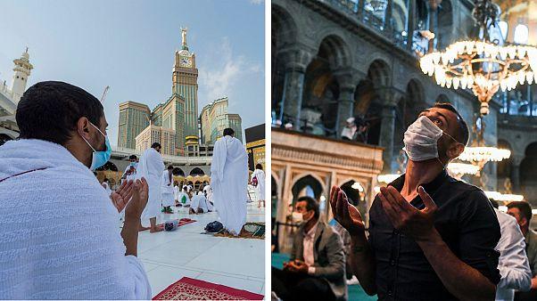 Em Meca, cerca de um milhar de fiéis cumprem o Haja e, no resto do mundo, o Eid ul-Adha