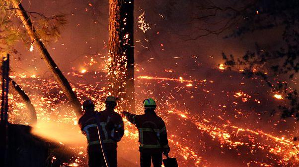 Μεγάλη πυρκαγιά κατακαίει εκτάσεις δυτικά της Μασσαλίας
