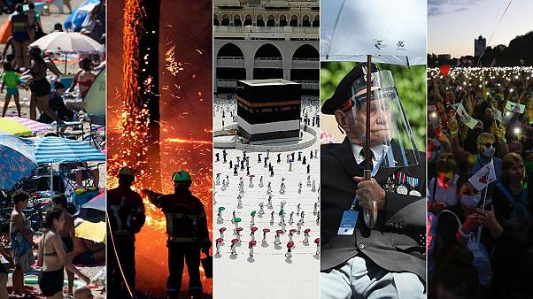 A combination of images featuring this week's news stories