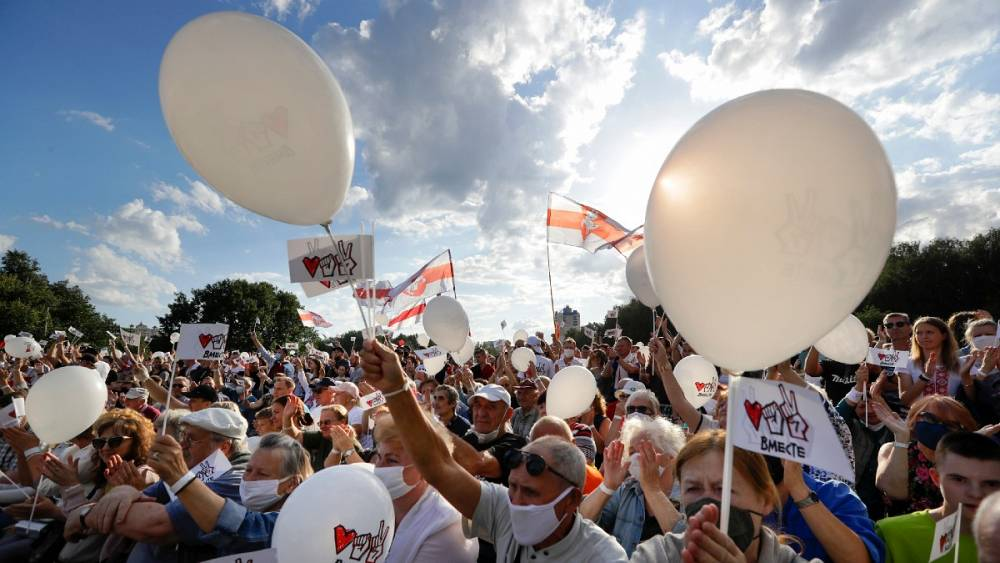 تظاهرات بیسابقه مخالفان الکساندر لوکاشنکو در بلاروس