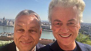 A holland szélsőjobb vezetőjével fotózkodott Orbán Viktor