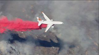 ویدئو؛ آتشنشانان در تلاش برای مهار آتشسوزی در کالیفرنیا