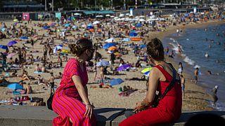 Am Strand in Barcelona
