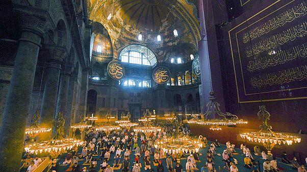 Zum ersten Mal nach 86 Jahren finden die Eid-Gebete zum Opferfest in der Hagia Sophia statt