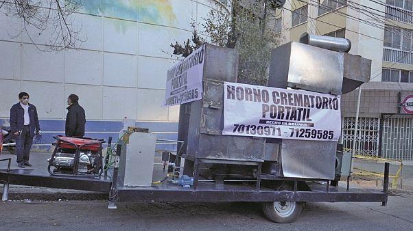 Передвижной крематорий на улицах Ла-Паса