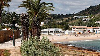 Una spiaggia in Algarve, nel sud del Portogallo