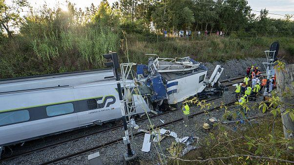 Крушение поезда в Португалии