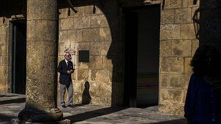 El historiador Eusebio Leal Spengler en el patio del museo de la Ciudad de La Habana, 23/11/2018