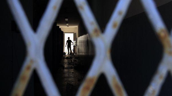Libya'da bir cezaevi (arşiv)