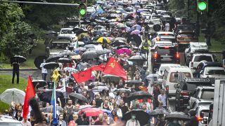 شاهد: مظاهرات في خاباروفسك الروسية للسبت الرابع على التوالي احتجاجا على اعتقال سيرغي فورغال