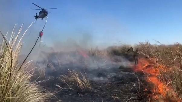 Combate aos incêndios no Delta do rio Paraná