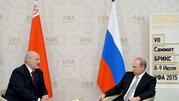 Belarus Cumhurbaşkanı Aleksandr Lukaşenko ve Rusya Devlet Başkanı Vladimir Putin