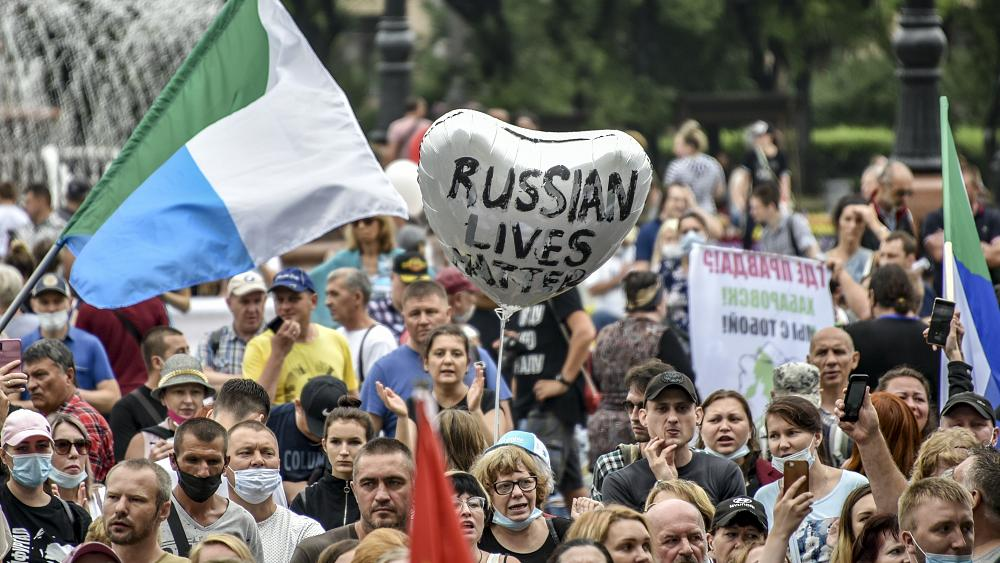 Fourth week of anti-Kremlin protests in Russia's far-east