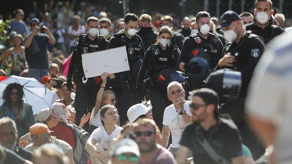 Kundgebung gegen Corona-Maßnahmen in Berlin