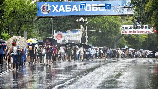 Rusya'nın Habarovks bölgesinde, Kremlin karşıtı gösteri