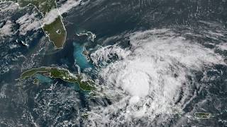 Isaias Kasırgası'nın uydu görüntüsü