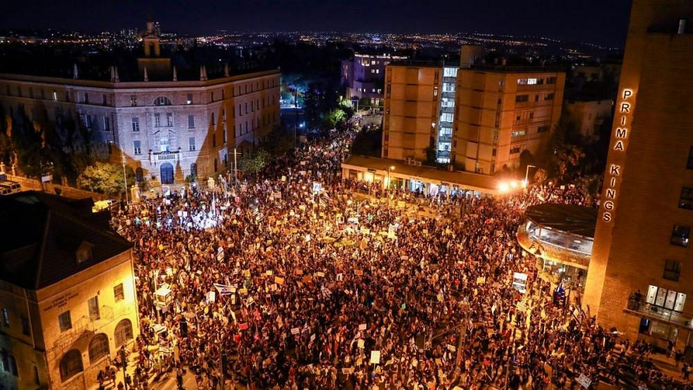 ادامه تظاهرات اسرائیلیها علیه نتانیاهو؛ دهها نفر بازداشت شدند