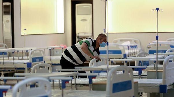 صورة من الأرشيف- مستشفى ميداني لعلاج مرضى COVID-19 في بغداد، العراق