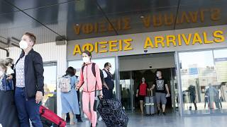 People arriving in Greece by plane