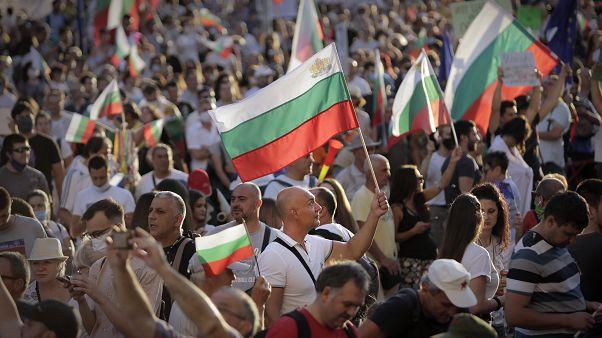 Protesto em Sofia