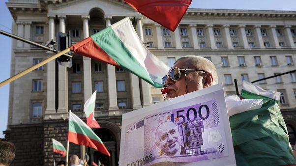 Protesta è: una banconota da 500 euro con il ritratto di Borissov.