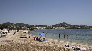 La plage de Talamanca à Ibiza, le 31 juillet 2020