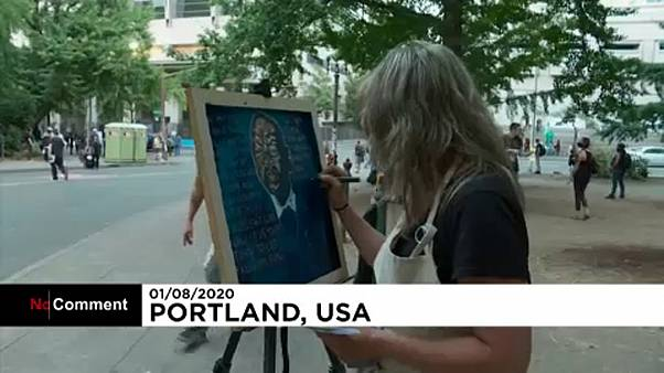Portland-Protest als Kunstaktion