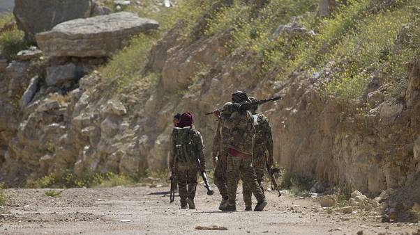 Çatı yapısını Kürt YPG'nin oluşturduğu Suriye Demokratik Güçleri (SDG) isimli gruba bağlı savaşçılar