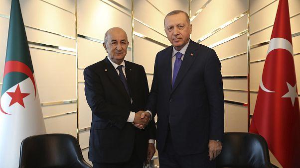 Cezayir Cumhurbaşkanı Abdülmecid Tebbun // Cumhurbaşkanı Recep Tayyip Erdoğan