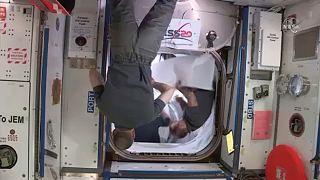 لحظه جدایی کپسول دراگن از ایستگاه فضایی بینالمللی