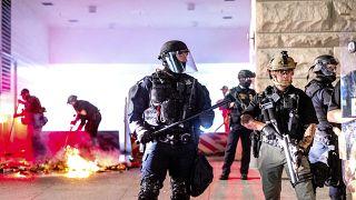 Les forces de l'ordre déployées à Portland, le 2 août 2020, États-Unis
