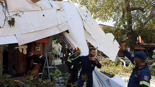 Πτώση αεροσκάφους στην Πρώτη Σερρών