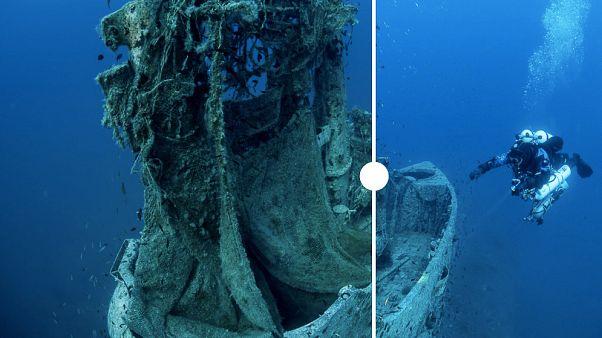 Relitto di sottomarino britannico restituito al suo splendore: pulizia che salva le specie marine