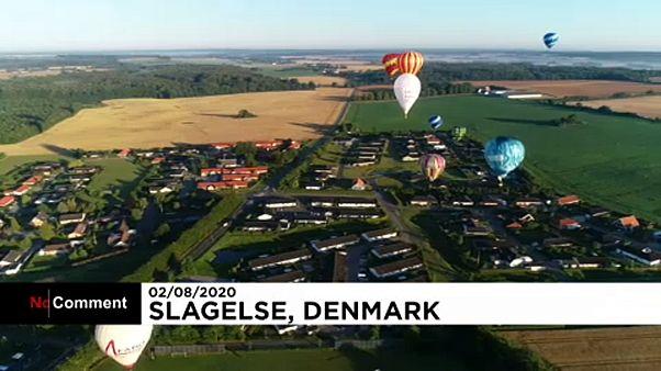 Compétition de montgolfières au Danemark