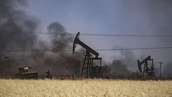 التنقيب عن النفط في بلدة القحطانية في الحسكة