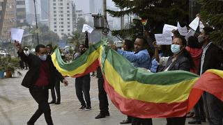 Ethiopians celebrate the progress made on the Nile dam