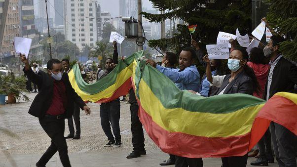 Ethiopians celebrate the progress made on the Nile dam