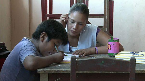 Schüler in Bolivien